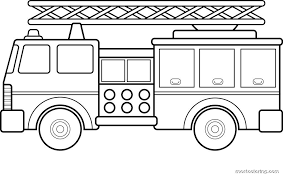 Free Fire Truck Coloring Pages Printable For Kids 911