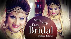 beautiful makeup for indian bride step by step easy bridal makeup tutorial krushh by konica you