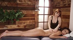 Romi Rain and Reena Sky Camel Toe All Girl Massage lesbian.
