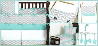 grey chevron bedding set turquoise and gray crib bedding collection grey and white chevron bedding set