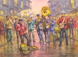img 0189 plaza at oaxaca watercolor walter chapman news orleans jazz band watercolor walter chapman