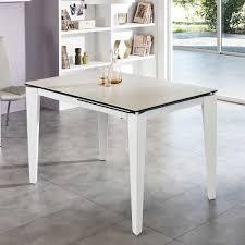 Ausziehbarer Tisch In Weiß Glas Modern Online Kaufen Stylesoul