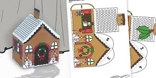 Gingerbread House Paper Model Traditional Tales Craft Crafts