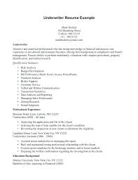 Underwriting Assistant Resumes 17 Super Underwriting Assistant Resume Examples
