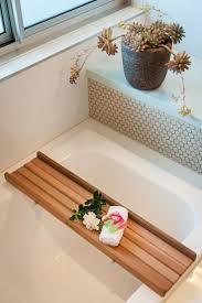 Delightful Bathtub Tray Scenic Bathroom Rustic Caddy Bath Techethe ...