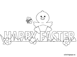 Small Picture Happy Easter chick coloring page Easter Pinterest Happy
