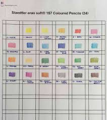 Staedtler Colored Pencils 48 Color Chart Color Chart For Staedtler Ergo Soft Coloured Pencils The