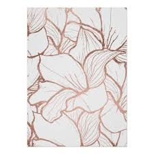 Floral Pattern Cool Modern Abstract Faux Rose Gold Floral Pattern Poster Zazzle