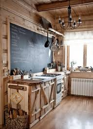 Innovation Country Kitchen Designs Chalkboard Makes Unique Addition To Cabinstyle Rustic For Inspiration