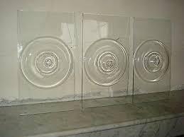three bullseye glass window panes 12 50 pic uk