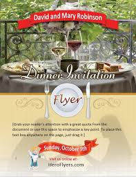 Dinner Party Invitation Flyer Template Hero Flyers