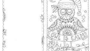 U Template Christmas Card Template Kids Coloring Pages Free Cards Cat Page