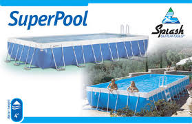 pool splash. Splash SuperPools Are Available In A Variety Of Shapes And Sizes, From The Kiddie-sized, Rectangular TadPool To Custom-made Ultra Super Our Pool