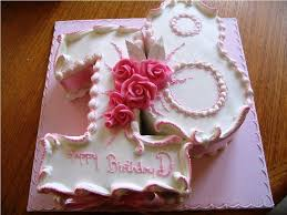 Female 18th Birthday Cake Designs Classic Style Simple 18th