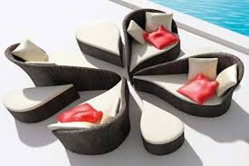 unique furniture ideas. Brilliant Ideas Unique Outdoor Furniture Inspiring Design Make A Flowers Shape  Comfortable Sofa Near With Pool Red Pillows To Ideas