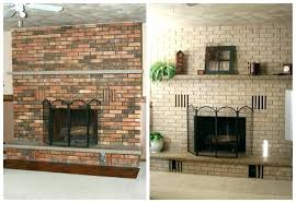 redo brick fireplace renovating fireplaces brick 3 ways for do it yourself old brick fireplace painting