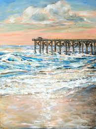 beach paintings categories acrylic beach beach painting beach scene landscape painting ocean painting s sunset surf surf art surfing