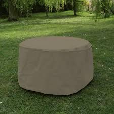 Jardins d'hiver Housse table ronde 120 cm - taupe - Housse de ...