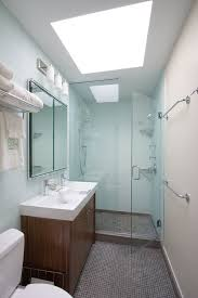 small bathroom lighting. Small Bathroom Lighting Contemporary With Double Sink Glass Shower. Image By: Ben Herzog