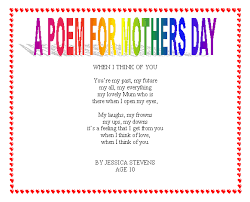 30 Touching Mothers Day Poems From Kids