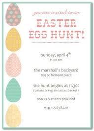 Easter Egg Hunt Invitation Template Easter Invitations Easter