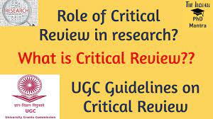 critical review of research paper in