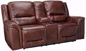 picture of double reclining loveseat w console