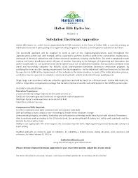 Apprentice Electrician Cover Letter Sample Guamreview Com