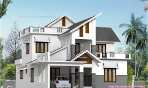 Modern house elevation feet indian plans