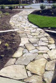 Garden Stone Pathway Designs Adorable Design Rock Walkway Flagstone Walkway