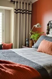 Orange Bedrooms Orange And Black Bedroom Home Design Ideas