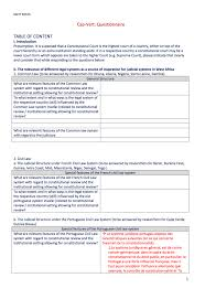 Table Setting In French Rule Of Law Questionnaire Cape Verde French Constitutionnet