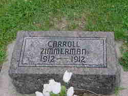 Carroll Zimmerman (1912-1912) - Find A Grave Memorial