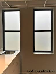 Window Film For Privacy And Light 3m Dusted Crystal Installed On Bathroom Windows To Provide