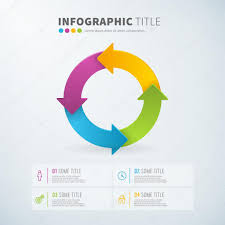 Business Infographic Circle Arrow Chart Time Laps Stock