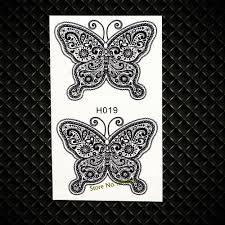 Hot Black Henna Butterfly Temporary Tattoo Women Kids Body Art Arm