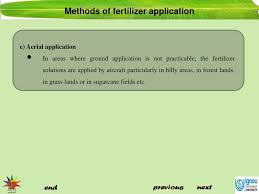 Sugarcane Fertilizer Chart Ppt Methods Of Fertilizer Application Powerpoint