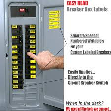 Circuit Breaker Decals 105 Tough Vinyl Labels For Breaker Panel Boxes Great For Home Or Office Apartment Complexes And Electricians Placed