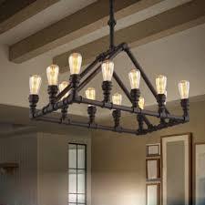 black 12 light chandelier in vintage style