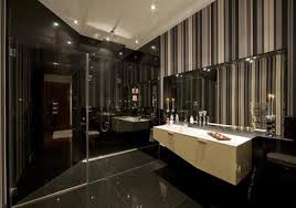 cabinet and lighting. Luxurious Bathroom Designs For Apartments Ideas : Luxury Hyde Park Apartment Design With Large Mirror Cabinet And Lighting