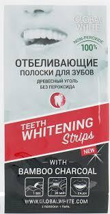 """<b>Global</b> White - <b>Отбеливающие полоски</b> для зубов """"Древесный ..."""