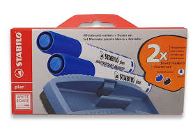 Stabilo Plan Whiteboard Marker And Duster Set Fine 6412pm
