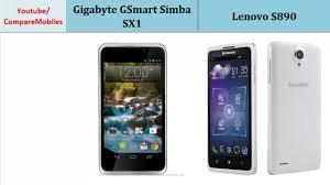 Gigabyte GSmart Simba SX1 & Lenovo S890 ...