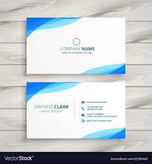 Free Design Business Cards Elegant Blue White Business Card Design