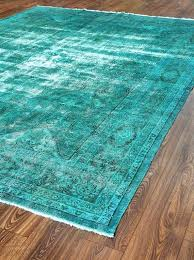 overdyed turquoise rug inches wool carpets patchwork rug turquoise color rugs vintage rug woven rugs rugs
