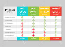Pricing Table Design For Business Price Plan Web Hosting Or