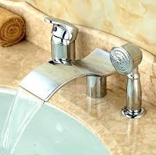 waterfall roman tub faucet single handle roman tub faucet polished chrome waterfall spout widespread bathtub faucet