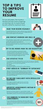 Top 8 tips to improve in your resume