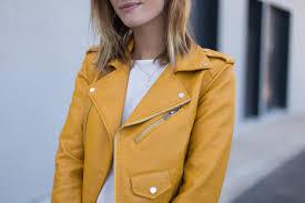 dijon mustard yellow leather jacket marine has freckles 7