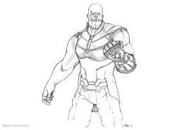 Avengers Infinity War Coloring Pages Thanos Fanart Free Printable